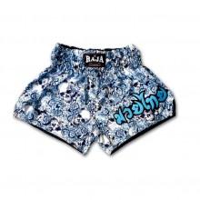 RAJA 泰拳短褲 玫瑰-骷髏-淺藍
