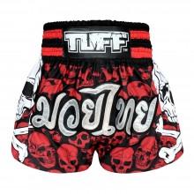 TUFF 泰拳短褲紅色骷髏