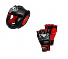 Bad Boy 保護頭盔 & 綜合格鬥露指手套